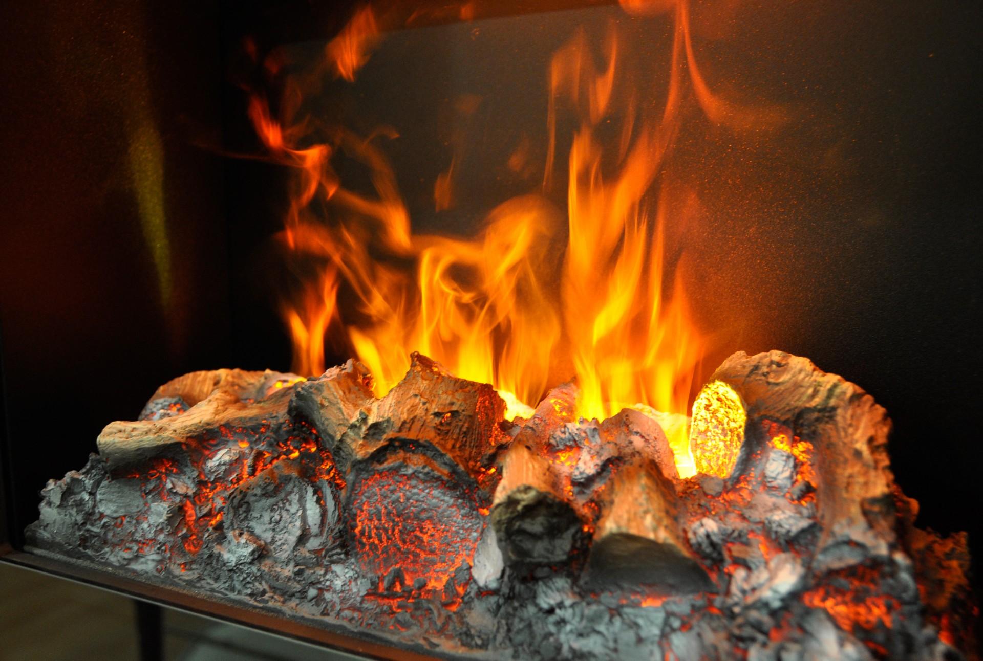 El ctricos - Fuego decorativo para chimeneas ...