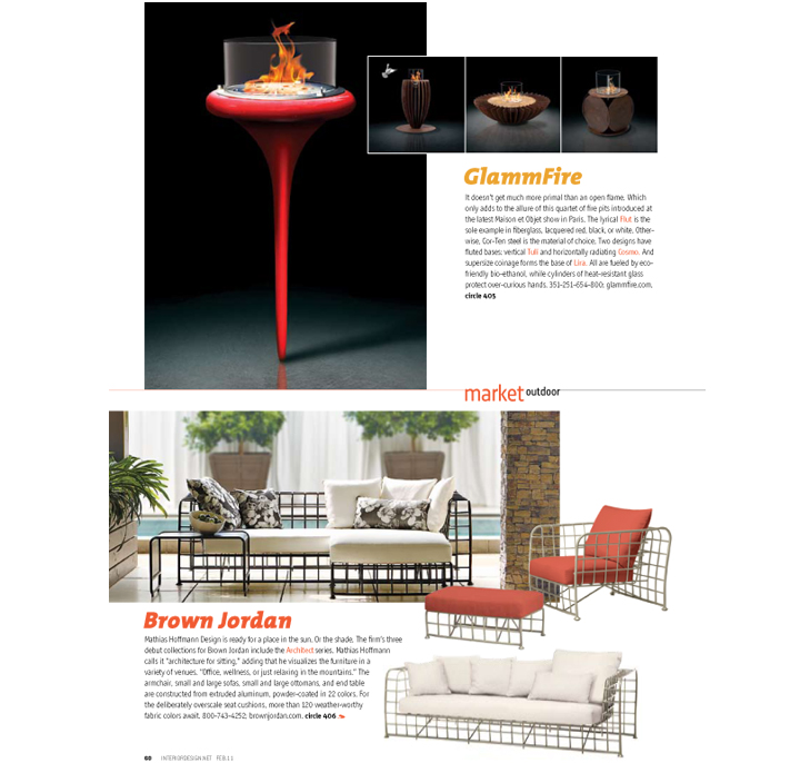 Interior design glammfire exclusive fireplaces for Newspaper articles on interior design