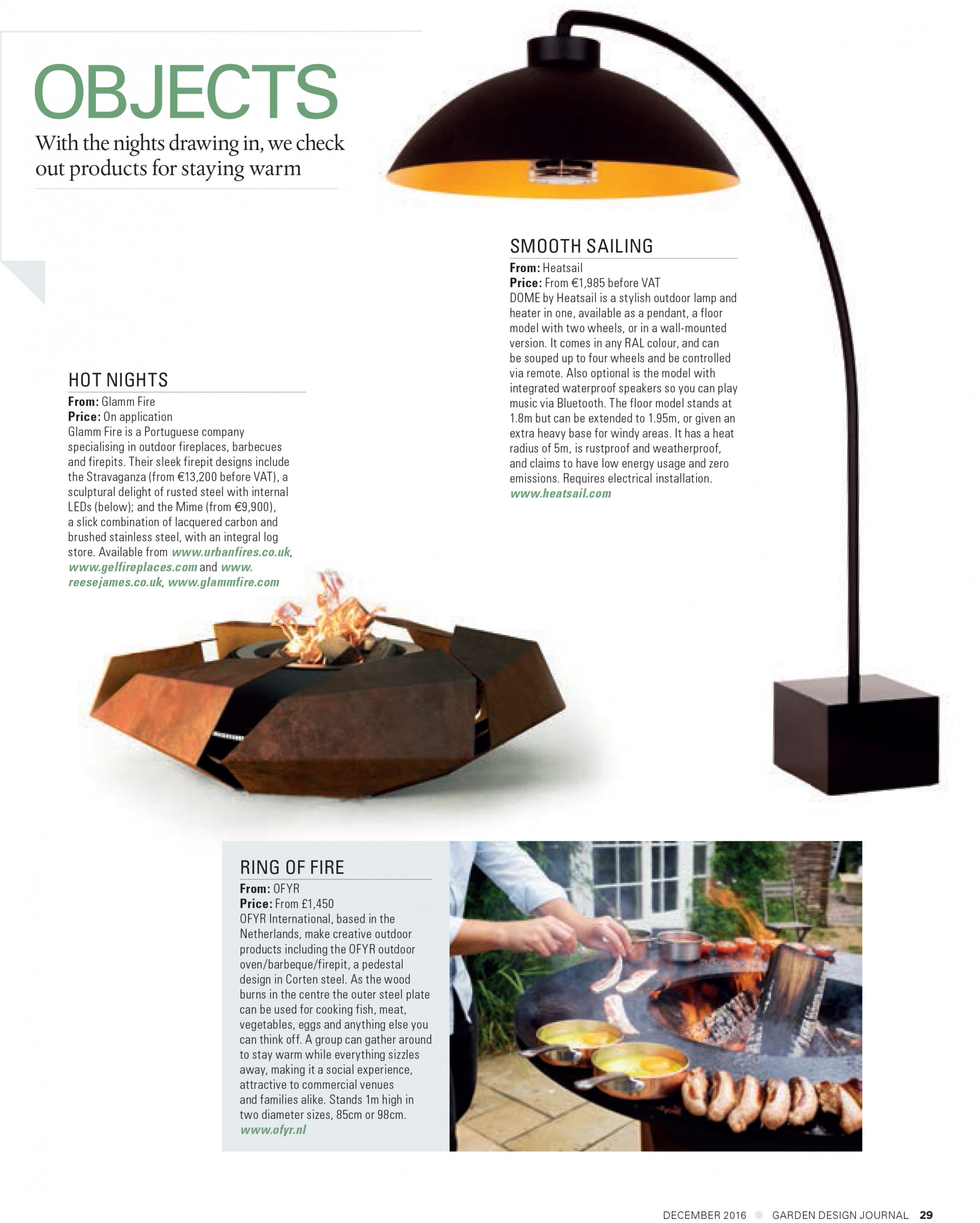 Garden Design Journal GlammFire Exclusive Fireplaces