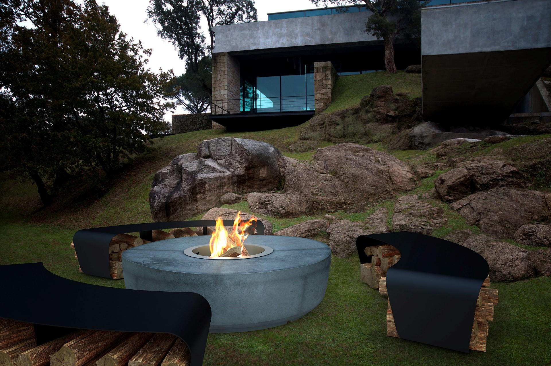Zarzuela GlammFire Exclusive Fireplaces ~ 22013838_Feuerstelle Im Garten Mit Sitzplatz